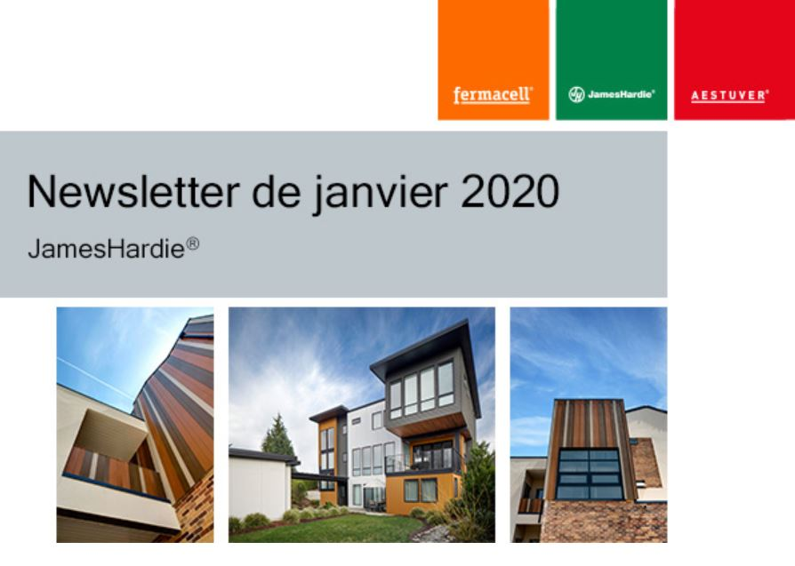 Newsletter de janvier 2020 JamesHardie®